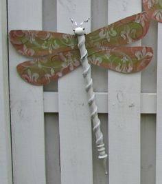 Table Leg Dragonfly Wall or Garden Art  Pink by LucyDesignsonline,