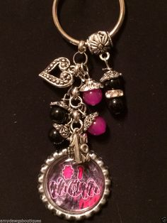 Mom bottle cap charm Key Chain