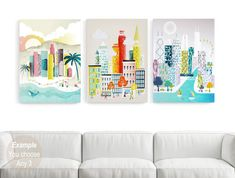 ANY 3 LARGE Wall Art Canvas Prints Canvas Home Wall by lauraamiss
