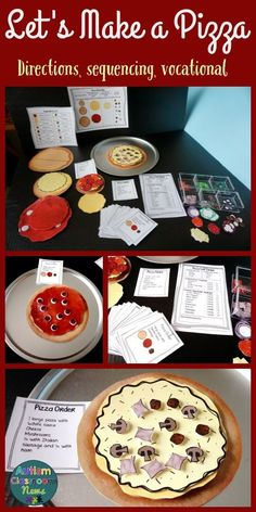 Let's Build a Pizza: Sequencing Vocational Tasks (Special Education*Autism) - Today Pin Life Skills Activities, Life Skills Classroom, Teaching Life Skills, Autism Activities, Autism Classroom, Special Education Classroom, Speech Therapy Activities, Sequencing Activities, Art Education