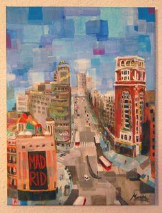 #arte y #creatividad en una ciudad como #Madrid, ideal para venir a tomar un té a casa y llevártelo puesto Madrid, Painting, Home, Cities, Creativity, Painting Art, Paintings, Painted Canvas, Drawings