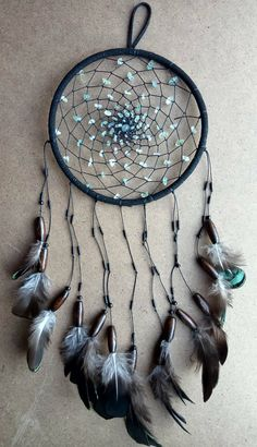 Check out this item in my Etsy shop https://www.etsy.com/uk/listing/553522299/dream-catcher-black-and-turquoise-green