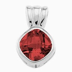 Platinum Antique Square Cut Mozambique Garnet Pendant Gems-is-Me. $1030.74. This item will be gift wrapped in a beautiful gift bag. In addition, a 'gift message' can be added.. FREE PRIORITY SHIPPING. Save 40%!