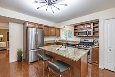 This gorgeous kitchen is in the perfect home for a young family in Chesterfield, Missouri. Home Staging Companies, Young Family, St Louis, Kitchen, Room, Furniture, Home Decor, Bedroom, Cucina
