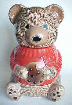 an original Duncan Hines cookie jar Cookie Pie, Biscuit Cookies, Cookie Jars, Cookie Containers, Teddy Bear Cookies, Teddy Bears, Teapot Cookies, Ceramic Cookie Jar, Vintage Cookies