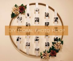 This Floral Photo Hula Hoop is perfect for weddings, bridal shower, or just about any party! This simple DIY will be such a fun and personal decoration