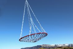 """Ævar"" swing made of leftover trawl rope. By design graduate Dagbjort Ylfa Geirsdottir."
