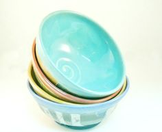 One+Prep+bowl++rainbow+colors++small+bowls+for+by+BlueSkyPotteryCO,+$20.00