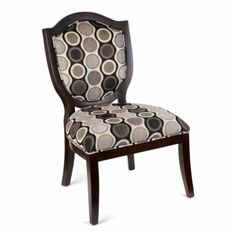 Best Yellow Gray Geo Print Wingback Accent Chair Living 640 x 480