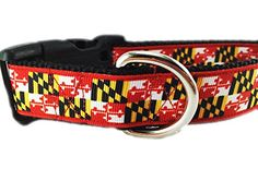Caninedesign, Maryland Dog Collar, 1 inch, nylon, side release buckle, adjustable, Medium 13-19 inches -- For more information, visit image link.