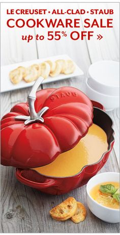 Cookware Sale up to 69% off, Le Creuset, All Clad, Staub.