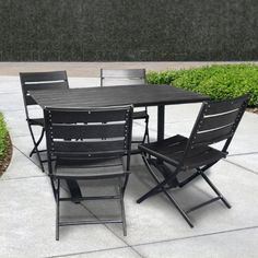 Folding patio table is a common choice you must consider to have for the perfect patio appearance. Patio should be decorated with appropriate furnishing Patio Dining, Patio Table, Dining Set, Outdoor Dining, Outdoor Chairs, Outdoor Furniture Sets, Outdoor Decor, Folding Picnic Table, Wooden Patios