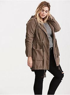 """This anorak jacket has that whole """"effortlessly cool chick"""" look on lock. A morel outer is a versatile hue, while the lightweight twill makes it one of those seasons-spanning pieces. While the snap button and zip closure offer a bundled up look, the adjustable waist-cinching ties and chunky hardware lend flattering and eye-catching appeal.<div><br></div><div><b>Model is 5'10"""", size 1<br></b><div><ul><li style=""""list-style-position: inside !important; list-style-type: disc !importa..."""
