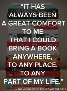 The comfort of a book. #books #quotes
