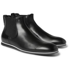 Tod's No_CodeRubber-Sole Leather Chelsea Boots