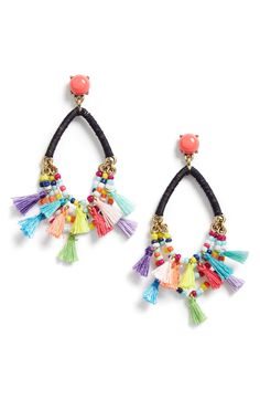 Statement pom tassel earrings perfect for summer or a beachy vacay