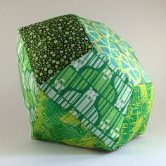 Gem Pillow in Emerald May birthstone by flyawayfacets on Etsy, $40.00