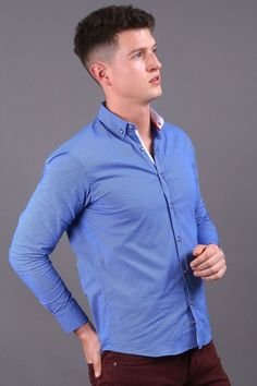 Reinvent your street style & office work clothing attire with this blue long sleeve button down shirt for men. When it comes to poor quality, a boring closet & an annoying fit, we feel your pain. Our men's apparel is perfect for those who enjoy looking classy while feeling powerful. Enjoy our large selection of guys simple trendy fashion wear for every day, weekend fun & business. Build your manly wardrobe easily with unique & preppy outfits. Buy now from Virgo Boutique! #mensfashioncasual Smart Casual Men, Work Casual, Fashion Wear, Trendy Fashion, Mens Fashion, Weekend Fun, Preppy Outfits, Men's Apparel, Virgo