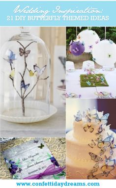 21 DIY Butterflies party Theme & Ideas   Confetti Daydreams - Be inspired by our latest collection of 21 DIY Butterflies Theme & Ideas! ♥ #Butterflies #Butterfly #DIY