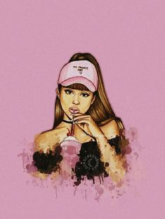 what can I say, she is flawless, you can't say anything bad about her! Tumblr Ariana Grande, Ariana Grande Anime, Ariana Grande Drawings, Ariana Grande Wallpaper, Ariana Grande Pictures, Tumblr Wallpaper, Iphone Wallpaper, Pink Wallpaper, Princesse Disney Swag