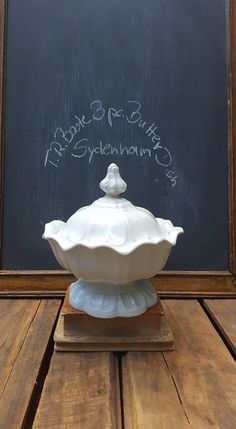 Antique Ironstone 3 Piece Butter Dish, Sydenham Shape By T R Boote by ElisabethMacBeth on Etsy