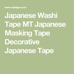 Japanese Washi Tape MT Japanese Masking Tape Decorative Japanese Tape