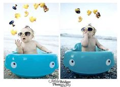 Bringing a baby bath to the beach means a baby doesn't have to miss out on splashing fun.