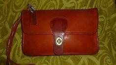 Vtg COACH PreCreed DOUBLE SIDED Rare Cashin NYC Clutch Cnvt Shoulder Bag Purse