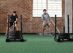 Indoor and Sports Turf Buyer's Guide: The Best Floor for Your Workout. Tired of boring reps and sets? Install sports turf to change your workout routine! Home Gym Flooring, Best Flooring, Flooring Ideas, Dream Home Gym, At Home Gym, Sports Turf, Rubber Tiles, Reps And Sets, Design Your Dream House