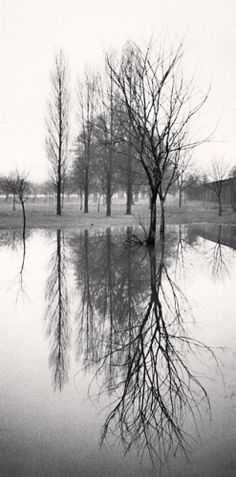 Michael Kenna -   Reflection, Richmond, Surrey, England, 1975