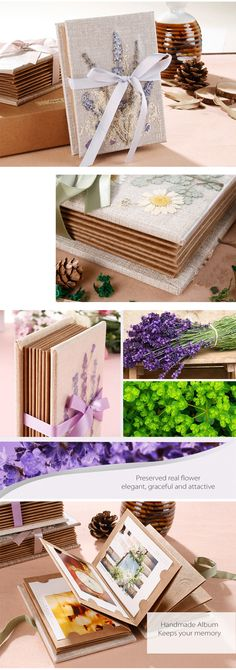 Eye-catching photo album for office or home use. #Handmade with natural flowers, Simple and Elegant! #ApolloBox #PhotoAlbum #Nature #PreservedFlowers