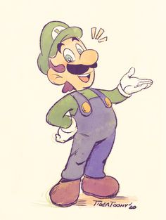 Super Mario Kunst, Super Mario And Luigi, Super Mario Art, Super Mario Brothers, Mario Bros., Paper Luigi, Super Princess Peach, Mario Fan Art, Luigi And Daisy