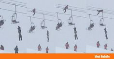 Tightrope Walker Scales Ski Wire to Rescue Man Hanging By The Neck On Chair Lift - http://viralbubble.com/tightrope-walker-scales-ski-wire-to-rescue-man-hanging-by-the-neck-on-chair-lift/