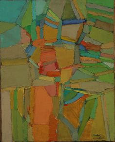 Amine El Bacha, 1969's - oil on canvas (the abstract period)