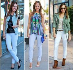 Sydne Style how to wear white jeans summer outfit ideas DL1961 Emma denim legging blogger style