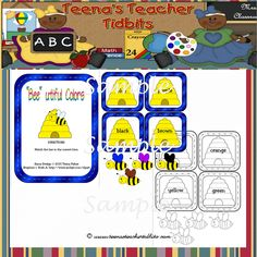 Bee-utiful Colors free file folder game. There are several free items here