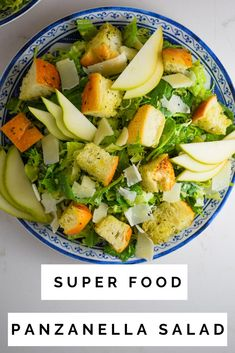 This Superfood Panzanella Salad is loaded with greens, a tangy homemade dressing and big, bready croutons that appeals to everyone! It's the perfect salad for your holiday celebrations! #salad #panzanellasalad #sidedish #healthysidedish
