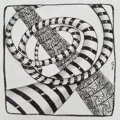 Hump Day (Wednesday) Zentangle® Challenge #4: Perspective Edition   Boomeresque Tangled Flower, Perspective Drawing, Old Mother, Tangle Patterns, Zen Doodle, Through The Looking Glass, Pattern Drawing, Go Fund Me, Zentangles
