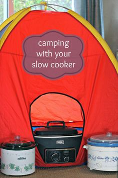 """Camping with your CrockPot Slow Cooker.  Last trip, we """"baked"""" potatoes.  They came out great!"""