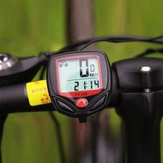 Có Dây chất lượng Waterproof Digital LED tốc độ Xe Đạp mét Xe Đạp Màn Hình Máy Tính Đo Dặm Speedometer xem miễn phí vận chuyển