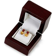 Cherrywood Collection Flap Earring Box- ST61-7153:154671:T