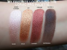 meggygrace:  My favorite look to do with the Lorac Pro palette. It's so gorgeous!  Love a good swatch party! Xo Carol
