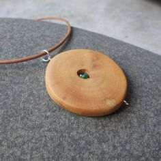 Wood jewelry  rubber wood with Chrysoprase  by NaturesArtMelbourne,