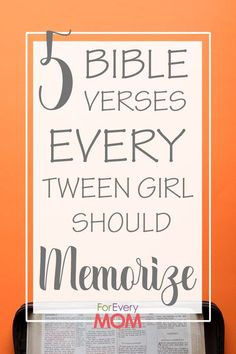 5 Bible Verses All Tween Girls Need to Hear - Here's why you should teach your tween girls these important Bible verses. Bible Verses For Girls, Encouraging Bible Verses, Bible Encouragement, Christian Encouragement, Bible Verse For Daughter, Raising Godly Children, Raising Girls, Raising Daughters, Adult Children