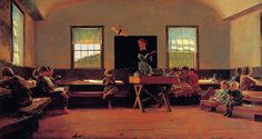 Winslow Homer - The Country School  Winslow Homer (February 24, 1836 – September 29, 1910) was an American landscape painter and printmaker, best known for his marine subjects.