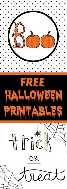 Get ready for Halloween with these free cute Halloween printables that will look great when framed!