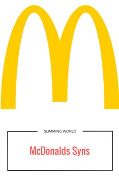 McDonalds syns - Are you on Slimming World and wondering what you can get for your syns? Look no further, here is my McDonalds syns guide!
