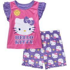 Hello Kitty - Baby Girls' 2-Piece Ruffle Sleeve Pajama Set Baby Girl Pajamas, Baby Girls, Hello Kitty Baby, Baby Online, Toddler Fashion, Ruffle Sleeve, Pajama Set, Rompers, Purple