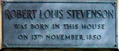 RL Stevenson plaque located at 8 Howard Place, Edinburgh. Robert Louis Stevenson, Film Base, Hyde, Edinburgh, Britain, The Neighbourhood, Literature, Photographs, Films