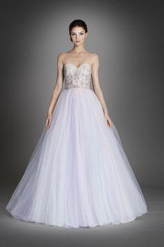 Lazaro wedding dress. Blue